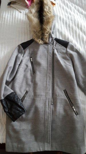 Mantel Jacke Parker grau