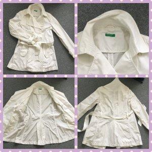 Benetton Trench Coat white mixture fibre