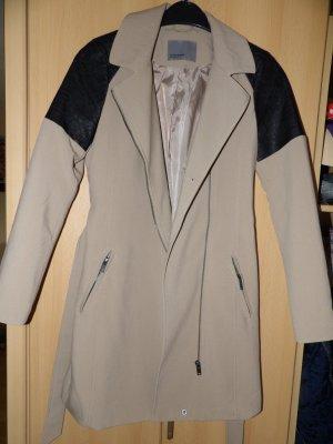 Mantel Jacke Vero Moda Gr. 34 XS Lederteil Übergang