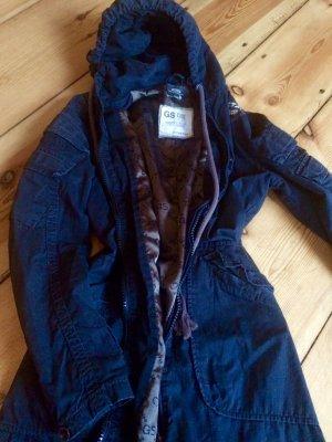 Mantel Jacke von G-STAR schwarz GR. XS / 34 vintage