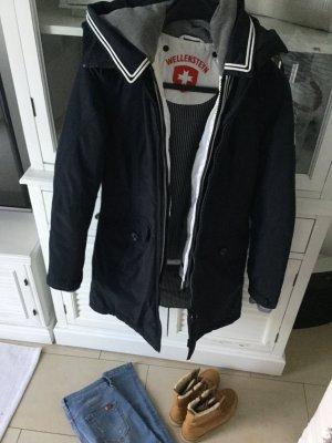 Mantel Jacke  Wellensteyn Navyblau Weiß Größe XS