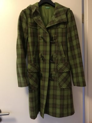 Mantel kartiert in grün