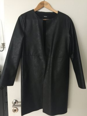 Mexx Fake Fur Coat black imitation leather