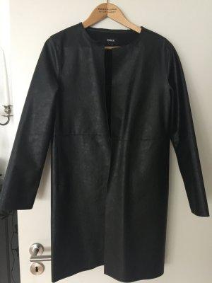 Mexx Abrigo de piel sintética negro Imitación de cuero