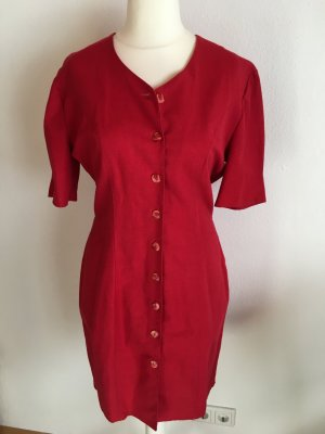 Mantel Kurzarm mantel Kleid Vintage rot Gr. 40 TOP