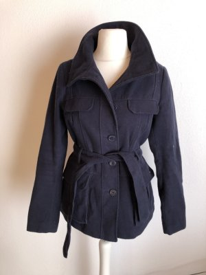H&M Short Coat dark blue