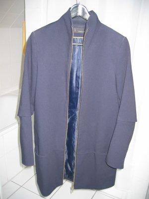 Mantel Kurzmantel Jackenmantel Gr. 36 blau ZARA BASIC