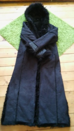 Mantel lang schwarz Größe 38