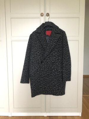 Mantel Leopardenmuster Grau