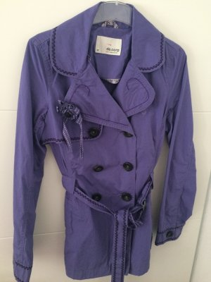 de.corp by Esprit Trench Coat lilac-lilac cotton