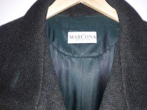 Marcona Wollen jas donkergroen