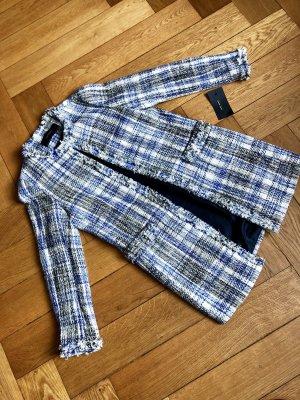 Mantel/Long Blazer schwarz weiß blau meliert