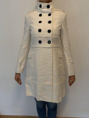 Mantel Mango M, schneeweiß, Baumwolle, NEU