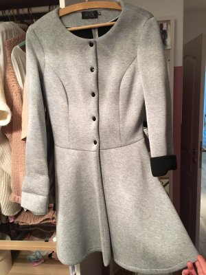 Mantel, Mantelkleid, Kleid, M, 36, 38, grau, schwarz, Übergangsmantel, Jacke, Übergangsjacke