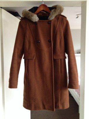 Comptoir des Cotonniers Cappotto in lana marrone Lana