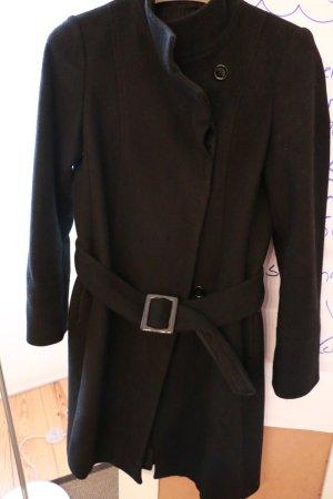 Mantel Massimo Dutti, schwarz, Gr. 38, Wolle