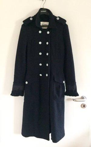 Mantel Military Closed Wolle Marine neuwertig