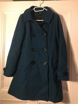 H&M Short Coat petrol