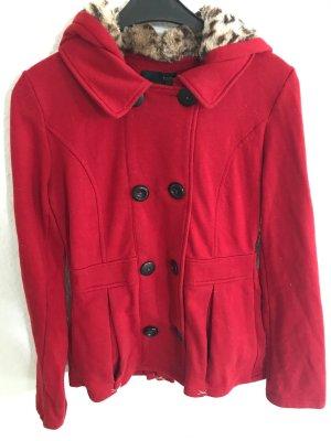 Tally Weijl Abrigo con capucha rojo oscuro