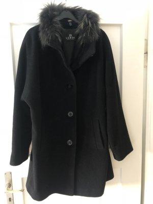 Lebek Abrigo de lana negro Lana