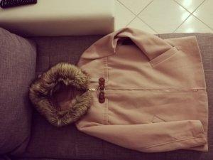 Abito cappotto color oro rosa