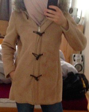 Mantel mit Fake Fell Kragen