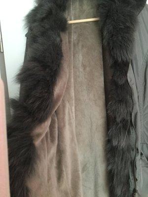 Mantel mit Fakefurbesatz