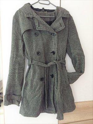 Mantel mit feinem Hahnentritt-Muster Gr. 42