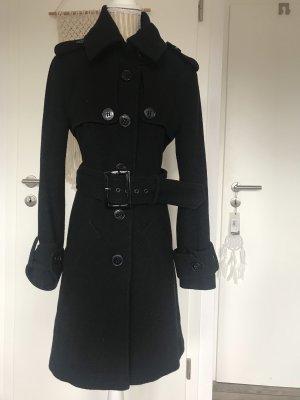 Ana Alcazar Wool Coat black-silver-colored
