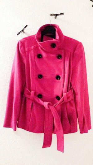 Mantel mit Gürtel von Zara Basic in pink, Gr. M