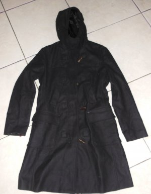 Benetton Duffel Coat black wool