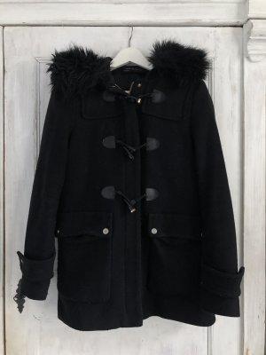Zara Hooded Coat black-gold-colored