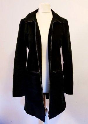 Mantel mit Kapuze tailliert schwarz Gr. XS 34