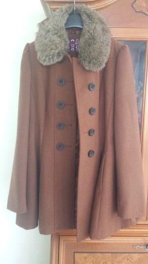 Mantel mit kunstfell Kragen von next