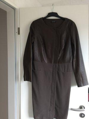 Mantel mit Leder und Stoff