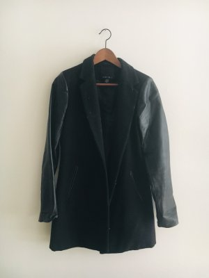 Mantel mit Lederärmeln