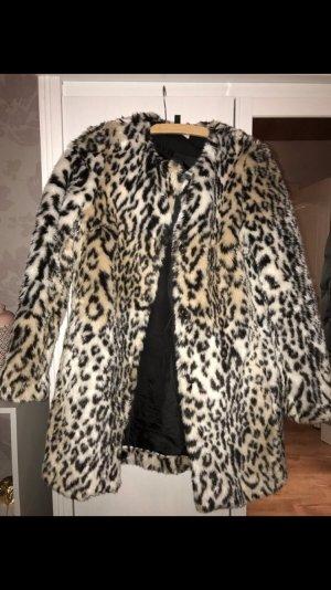 Mantel mit Leopardenmuster - Kunstfell