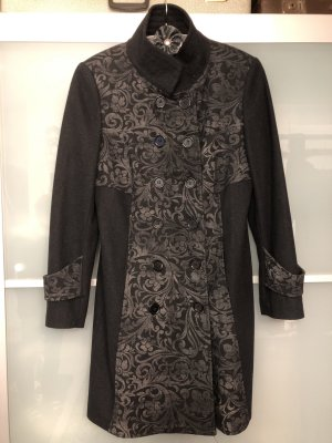 Heine Between-Seasons-Coat black mixture fibre