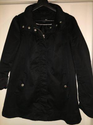 Mantel mit Puffärmeln schwarz