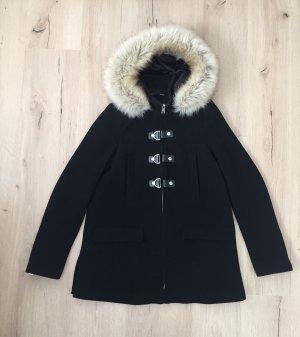 Mantel mit Taschen und Kapuze