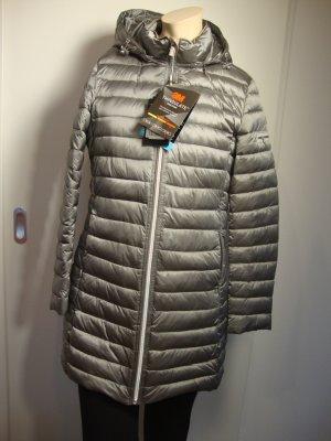 Milestone Manteau à capuche argenté-brun sable polyamide
