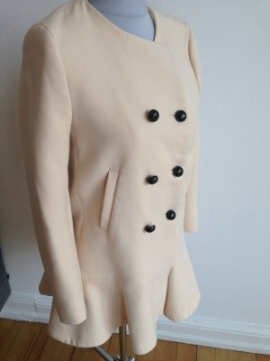 Mantel mit Volants ZARA WOMAN Nude 38