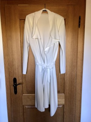 Boohoo Wraparound Jacket white