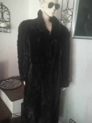 Manteau de fourrure brun noir fourrure