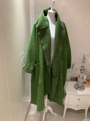 Mantel neu Einheitsgrösse grün 80% Lana Wolle