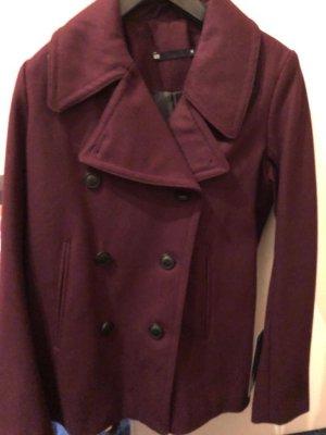 WE Manteau d'hiver rouge mûre