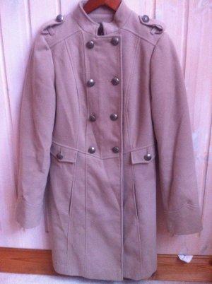 Mantel neuwertig Größe 36 beige mit knöpfen