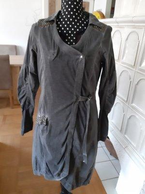 NÜ Denmark Between-Seasons-Coat dark grey cotton