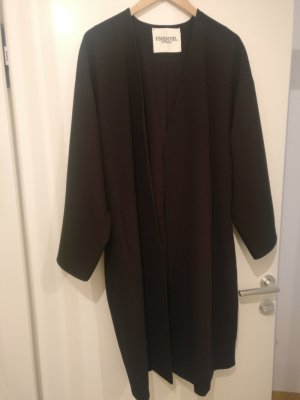 Essentiel Gabardina tipo vestido negro