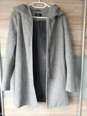 Only Hooded Coat grey polyester